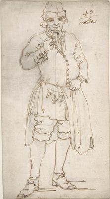 Джованни Антонио Каналь (Каналетто). Мужчина с трубкой