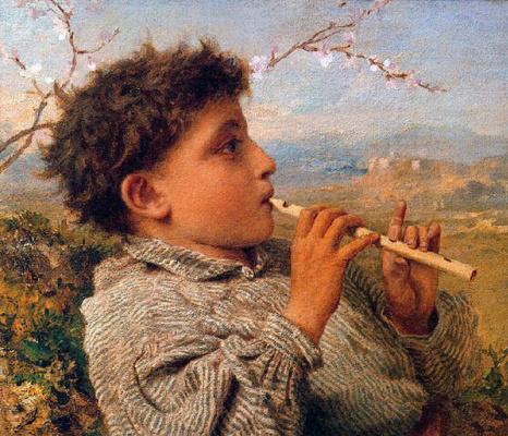 Sophie Jeanjambre Anderson. Shepherd boy with flute