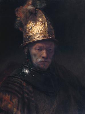 Rembrandt Harmenszoon van Rijn. The man in the Golden helmet
