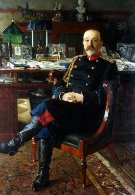 Nikolay Petrovich Bogdanov-Belsky. Portrait of adjutant-General Hesse