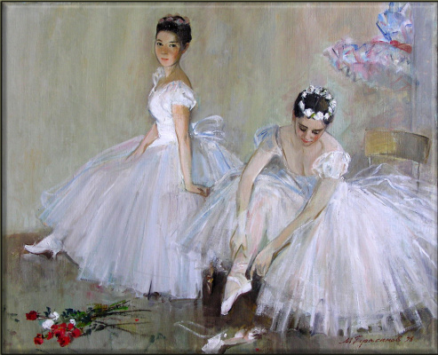 Mikhail Mikhailovich Gerasimov. Two ballet dancers. Relaxation