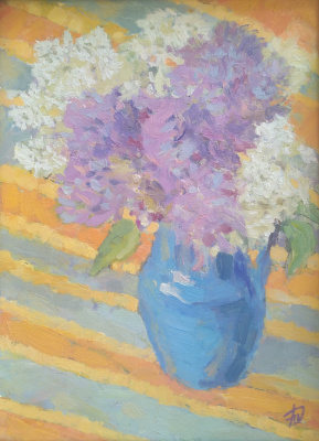 "Anna Valerievna Dolganova. ""The smell of spring. Bouquet of lilacs"""