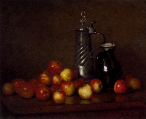Клод Жозеф Бейл. Натюрморт с яблоками