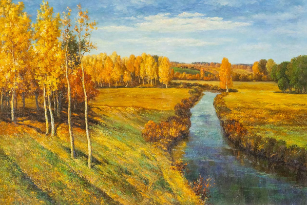 """Saveliy Kamsky. Copy of the picture """"Golden Autumn"""""""