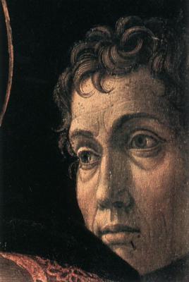Андреа Мантенья. Представление в Храме, фрагмент