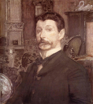 Mikhail Vrubel. Self-portrait with a pearl shell