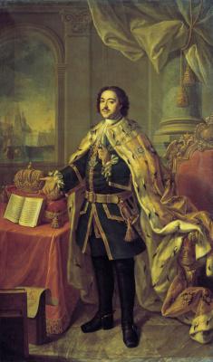 Alexey Petrovich Antropov. Portrait Of Peter I