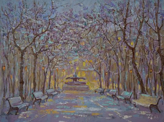 Alexander Panyukov. Winter twilight