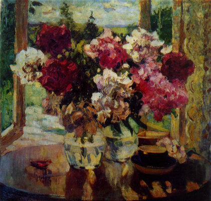 Alexander Mikhailovich Gerasimov. Roses. 1925