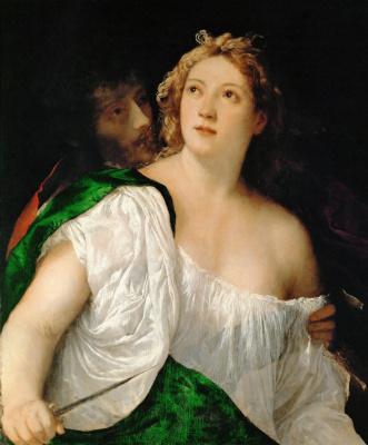 Titian Vecelli. Lucretia and Tarquinius