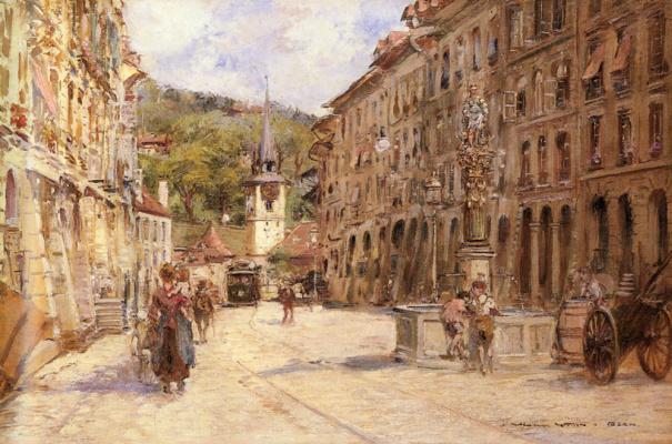 Жорж Штейн. Уличная сцена в Берне