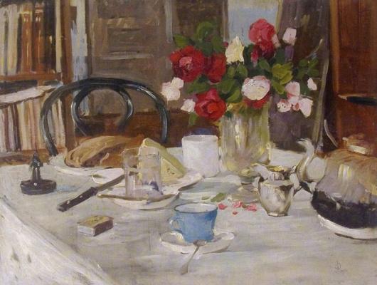 Валериан Владимирович Сидамон-Эристави. Натюрморт с розами