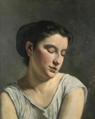 Фредерик Базиль. Молодая женщина с опущенными глазами