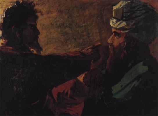 Nikolai Nikolaevich Ge. Christ and Nicodemus