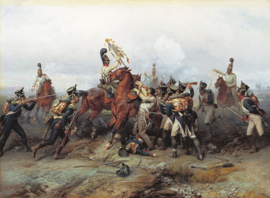 Bogdan Pavlovich Willewalde. The feat of the cavalry regiment in the battle of Austerlitz in 1805. 1884