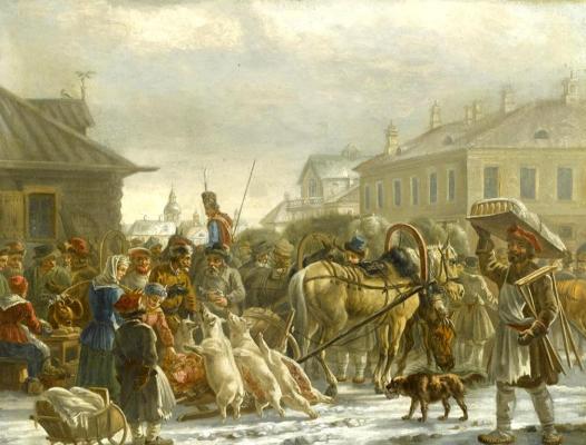 Alexander Osipovich Orel. Petersburg Hay Square. 1820
