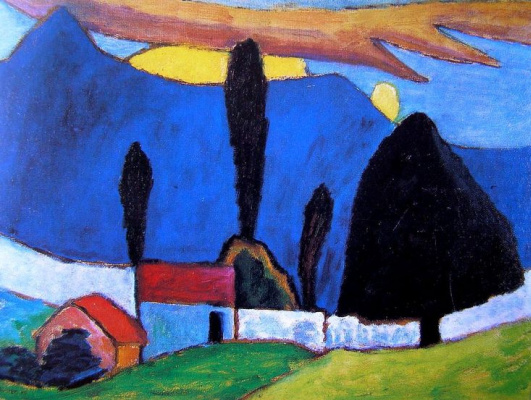 Gabriele Münter. Landscape with white wall