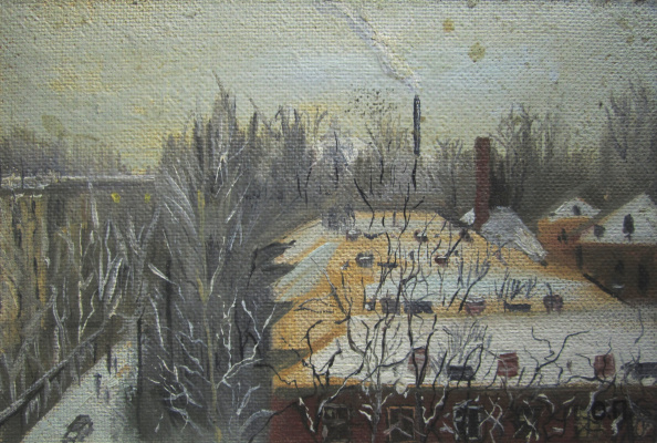 Pavel Markovich Osherov. View from the window. Winter