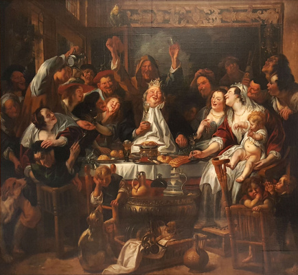 Jacob Jordaens. The king is drinking! (Feast of the Bean King)