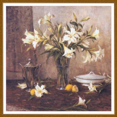 Джон Энсиниас. Белые лилии