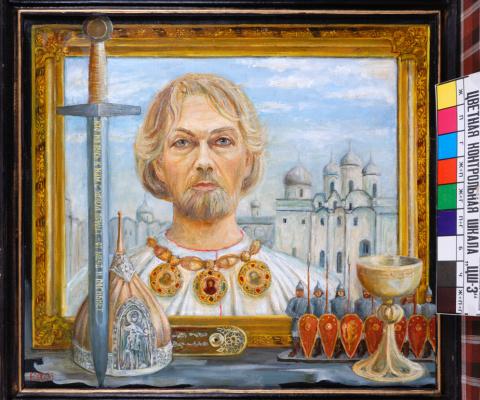 Юрий Антонович Хмелецкий. Александр Невский Х.,м. 60х65