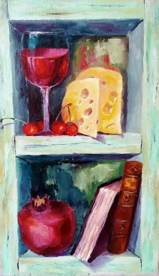 Elena Nikolaevna Zorina. Still life with cheese