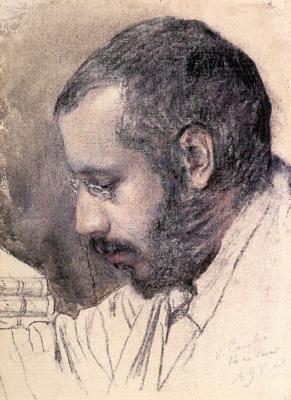 Константин Андреевич Сомов. Портрет художника А.Н. Бенуа