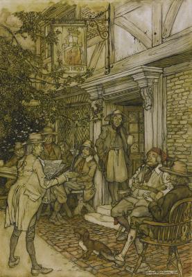 Arthur Rackham. Rip van Winkle III