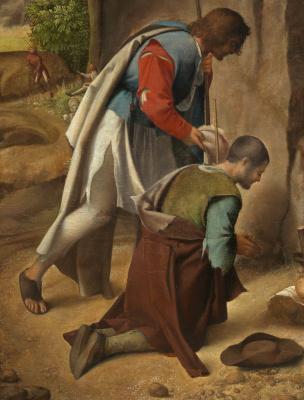 Giorgione. Adoration of the shepherds. Fragment