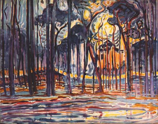Piet Mondrian. Forest