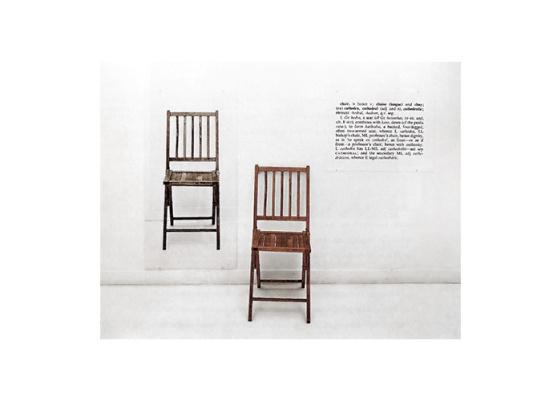 Joseph Kosuth. One and three chairs
