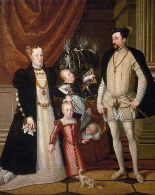 Giuseppe Arcimboldo. Portrait of Emperor Maximilian II with his family