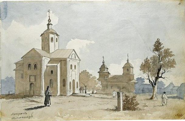 Taras Grigorievich Shevchenko. Motrin monastery