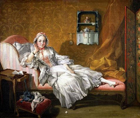 Франсуа Буше. Портрет Мари-Жанне Бюзо, жены художника