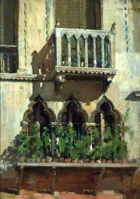 William Merritt Chase. Venetian facade