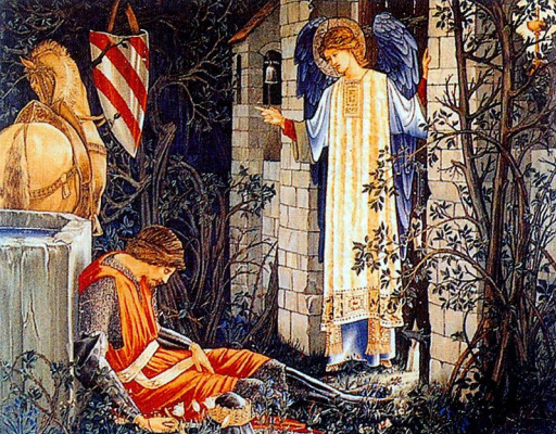 "William Morris. Series ""The Quest for the Holy Grail"". Sir Lancelot at the Chapel of the Holy Grail (Together with Edward Burne-Jones)"