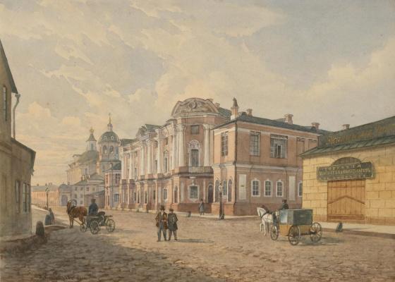 Здание Четвертой московской мужской гимназии на Покровке