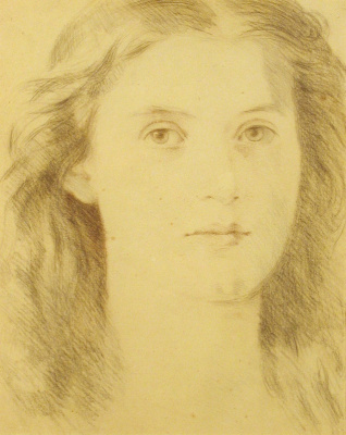 Frederick William Burton. Portrait of a young girl