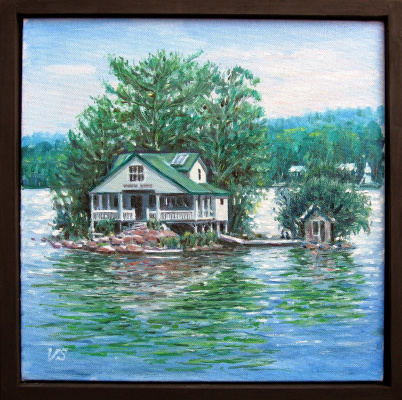 Vladimir Skvortsov. House on the lake