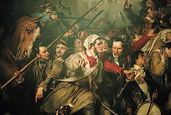 Гюстав Вапперс. Эпизод во время бельгийской революции