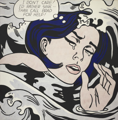 Roy Lichtenstein. Drowning girl