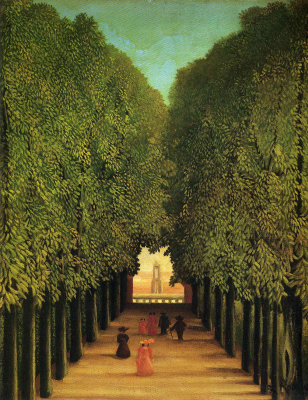 Henri Rousseau. Alley in the Park of Saint-cloud