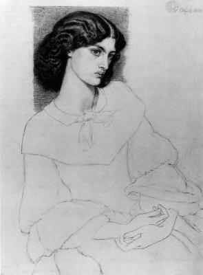 Dante Gabriel Rossetti. Portrait Of Jane Burden