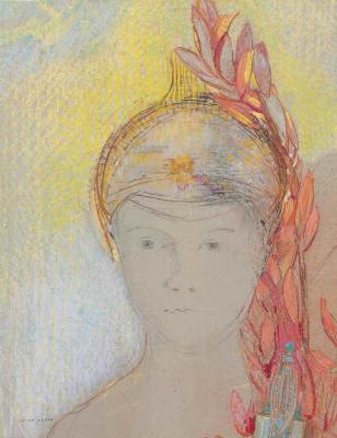 Odilon Redon. Head of Minerva