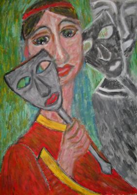 Tatyana Turanova. In a masquerade