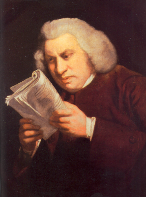 Joshua Reynolds. Portrait of samuel johnson