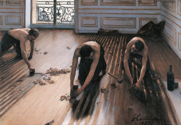 Gustave Caillebotte. The Floor Strippers