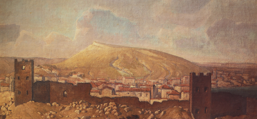 Vasily Dmitrievich Polenov. View of Feodosia from the Quarantine to the ruins of the Genoese fortress