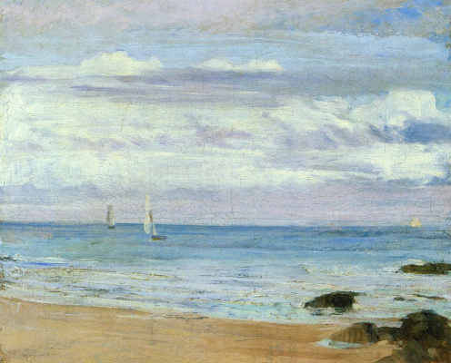 James Abbot McNeill Whistler. Blue and silver: Trouville