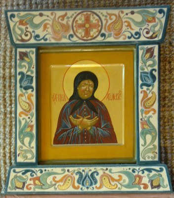 Moscow Icon Painting Workshop. The icon of Pelagia of Ryazan in rospisnoy Kyoto